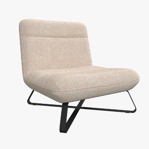 armchair chair design 3D model