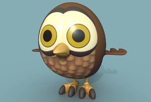 little owl 3D model