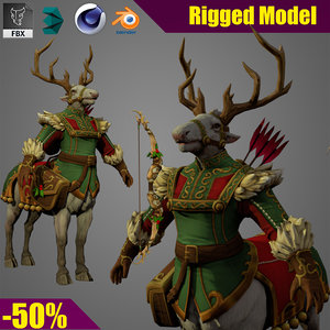 character warrior fighter 3D