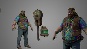 3D character warrior fighter