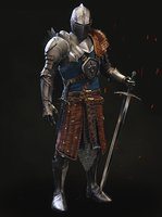 Medieval Knight with Armor and Fur