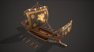 3D ancient ship 01 model