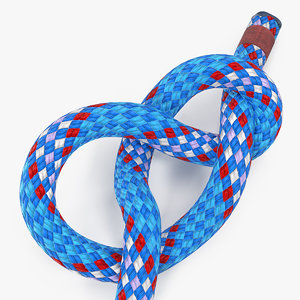 figure 8 bend rope 3D model