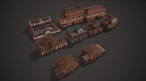 ancient house pack 3D model