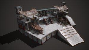 3D ancient shipyard