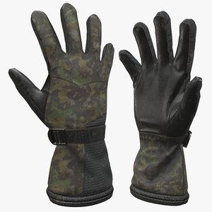 military gloves 3D model