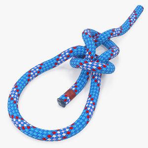 bowline knot line 3D model