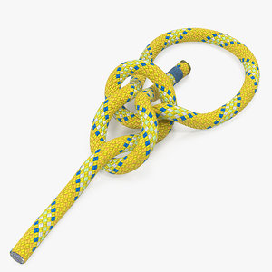 bowline knot rope line model