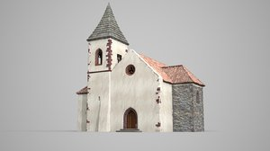 ancient medieval church 3D model