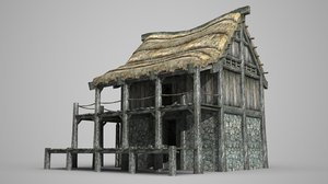 3D double thatched dwellings