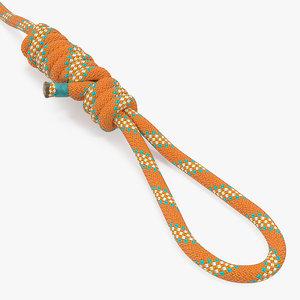bimini twist knot rope 3D