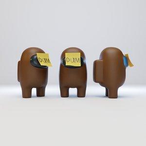 character dum sticky 3D model