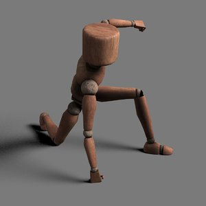 biped rigged dummy 3D
