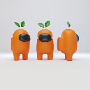 character plant hat 3D model