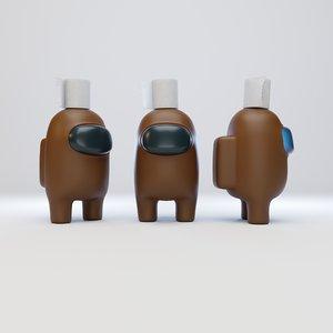 character toilet paper 3D model