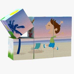 puzzle cubes toys 3D model