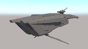 sci fi patrol cruiser 3D model