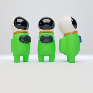 character astronaut helmet 3D model