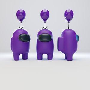 character balloon 3D model