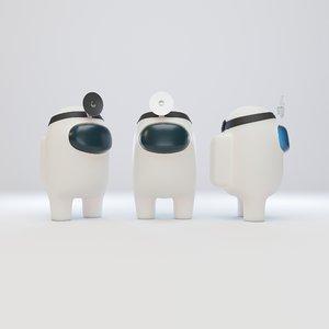 character head reflector 3D model