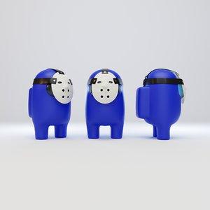 3D character hockey mask model