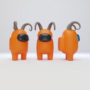 character ram horn model