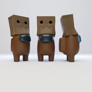 character spooky paper 3D model