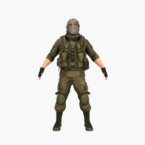 3D terrorist rigged games