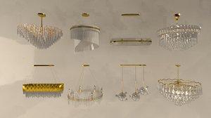 lamp chandelier 3D
