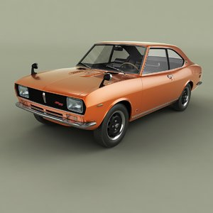1971 mazda rx2 coupe 3D model