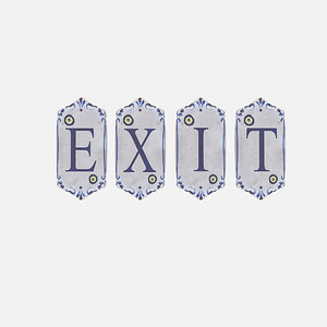 old stone exit sign 3D model