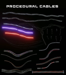wires cables 3D