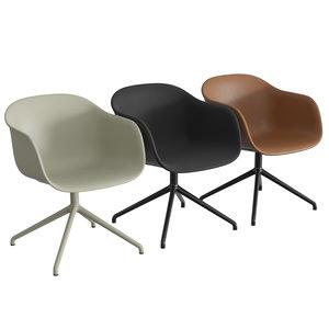 fiber armchair swivel base model