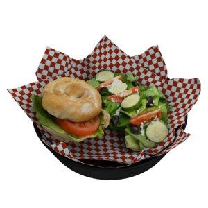 3D burger greek salad