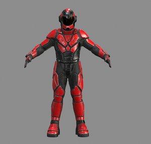 suit low-poly pbr 3D model
