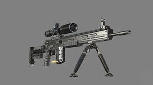 3D svd rifle