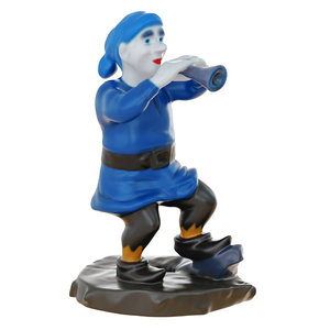 gnome figurine playing pipe model