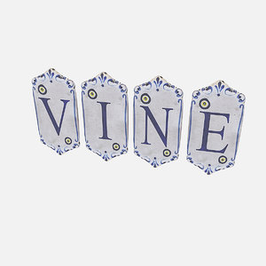old stone vine sign 3D model