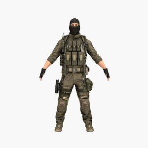 3D model terrorist v3