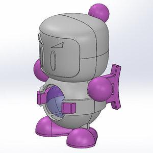 japanese bomberman toy 3D model