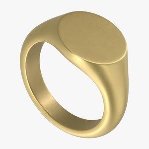 3D signet ring
