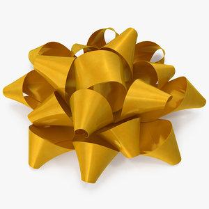 3D gold bow v 5