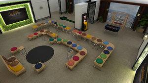 fun stools 3D model
