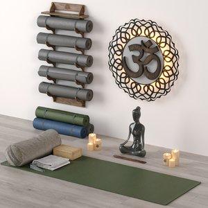 yoga set 3D model