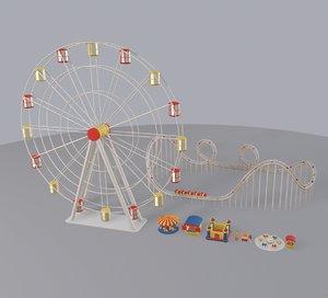 3D cartoon amusement park