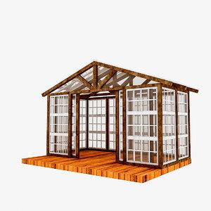 3D winter garden model