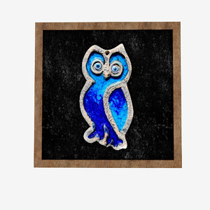 3D model owl relief painting