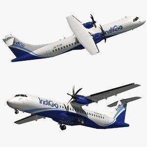 3D atr 72 indigo airlines