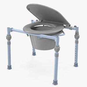 bedside commode seat 3D model