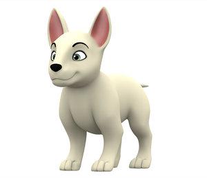 bull terrier puppy 3D model
